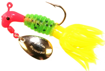 B2-1803-089  Crappie Thunder Fl Red/GrnPep/Opaq Yel  1/8th