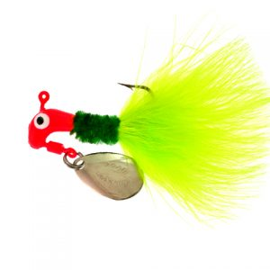 B2-1003-011  MARABOU, Flor.Red/Green-Chart. 1/8th
