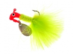 B2-1002-020  MARABOU, Flor. Red/Chartruese 1/16th