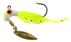 B2-1953-080 Reality Shad  Banana Cream 1/8th OZ. #1 Hook Twin Pa