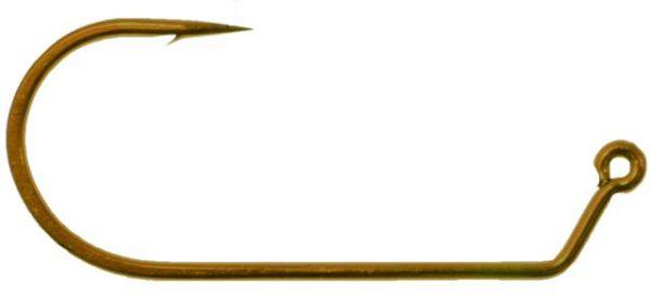 4630 4/0 60 Degree Bronze Wide gap Jig Hook