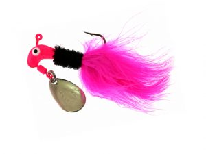 B2-1002-090  MARABOU, Pink/Black/Pink 1/16th