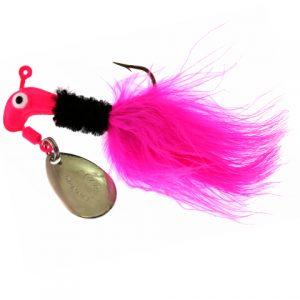 B2-1002-090  MARABOU, Pink/Black/Pink 1/16th